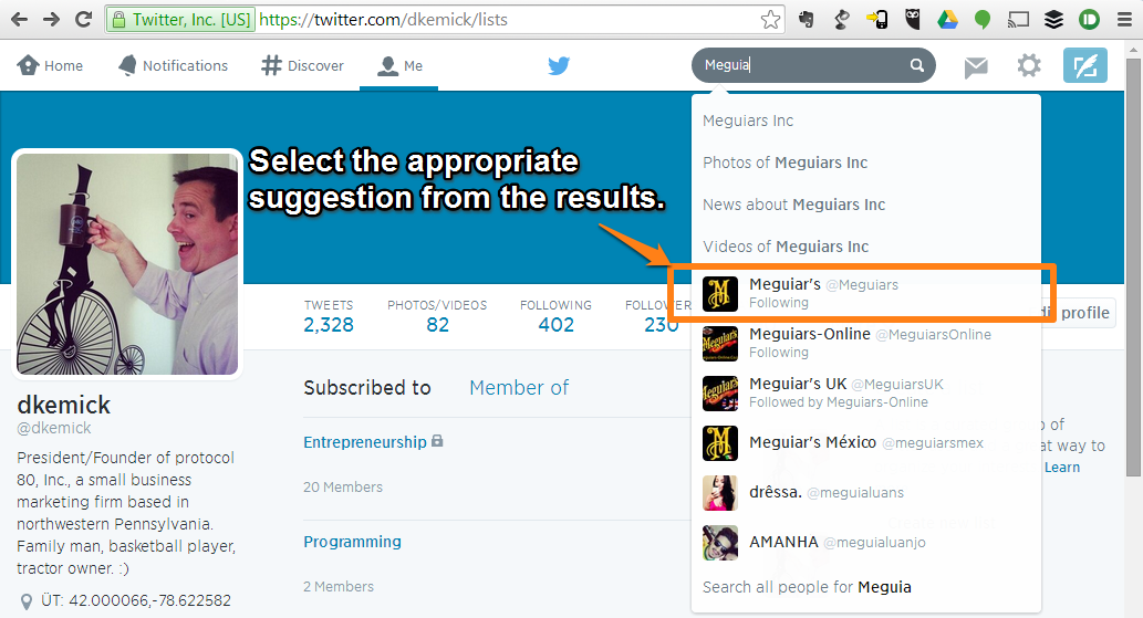 Twitter-Select-Search-Result