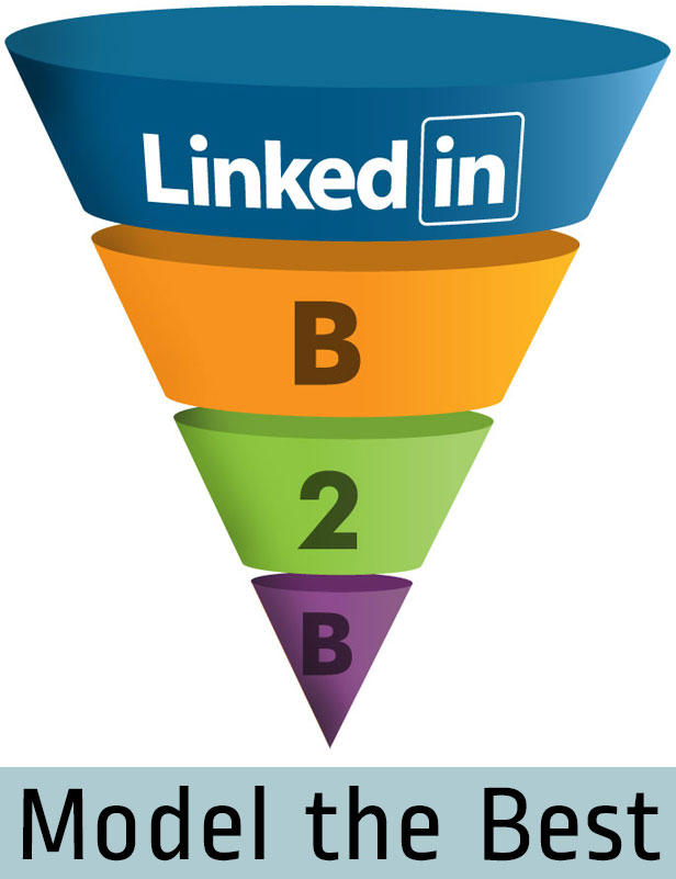Model The Best LinkedIN Pages - B2B Funnel