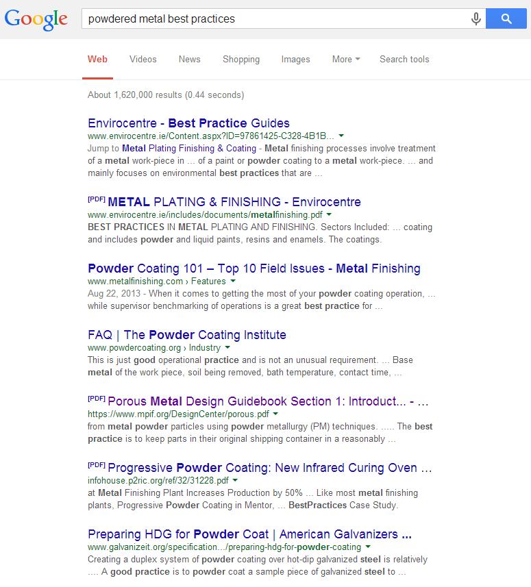SERP-powdered-metal-best-practices