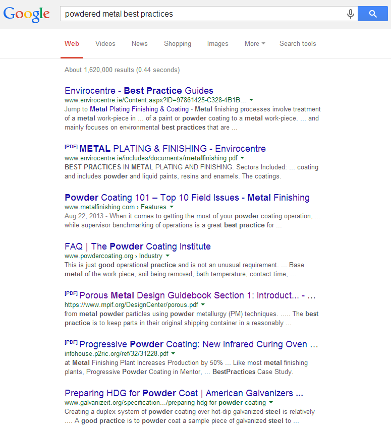 SERP-powdered-metal-best-practices