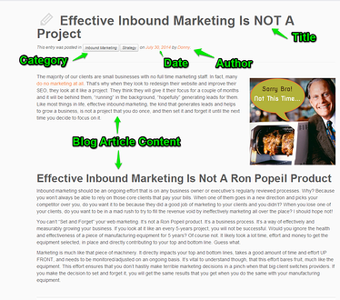 Blog post about inbound marketing.