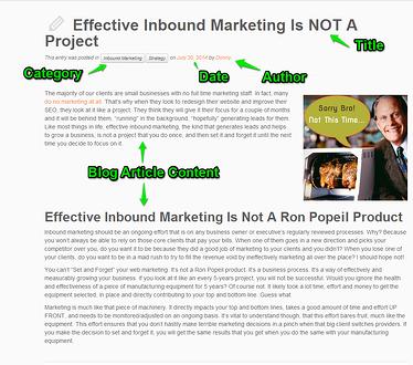 Blog post about inbound marketing.