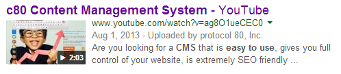 Video search result