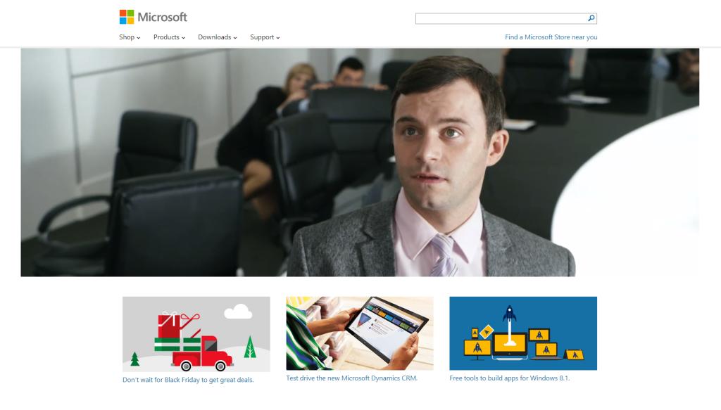 Microsoft Homepage