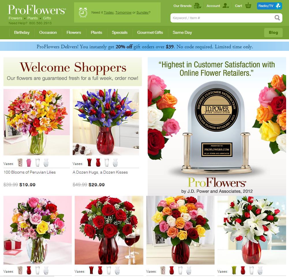 Landing Page For Patriotic Floral Wreath