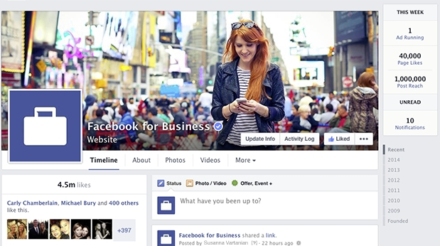 Newly Designed Facebook Business Pages