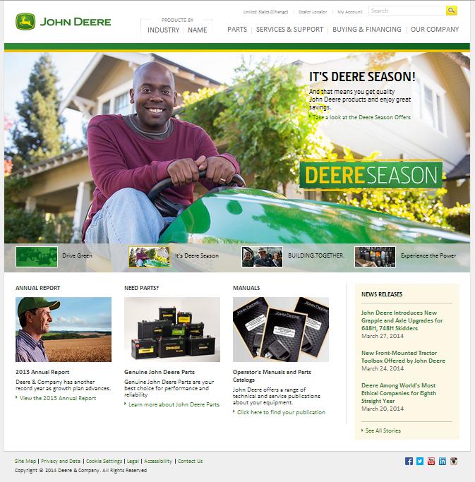 Deere US Homepage
