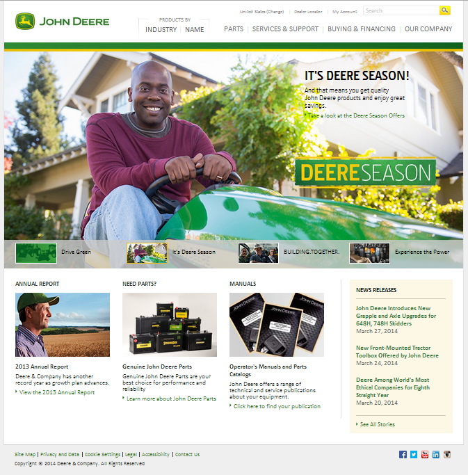 Deere US Homepage