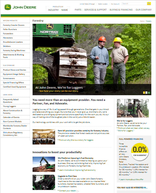 Deere Forestry Page