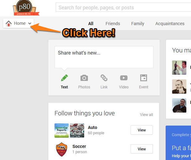 Google Plus Local Page Step 1