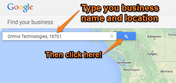 Google Plus Local Step 5