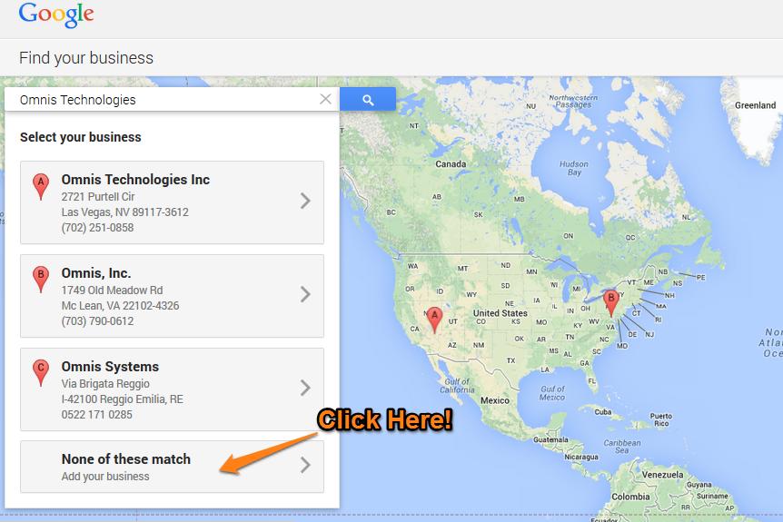Google Plus Local Step 6