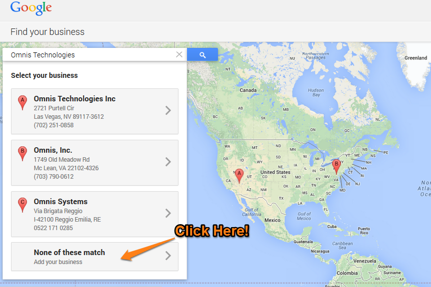 Google Plus Local Step 6