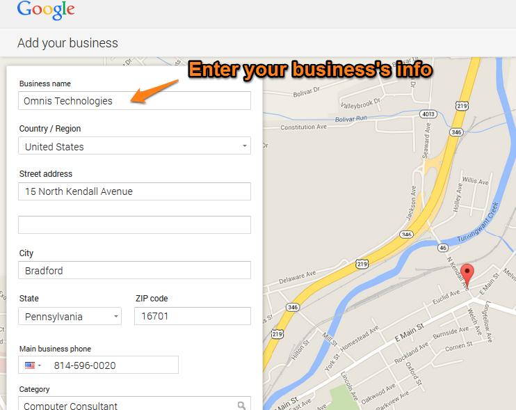 Google Plus Local Step 7