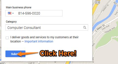 Google Plus Local Step 8