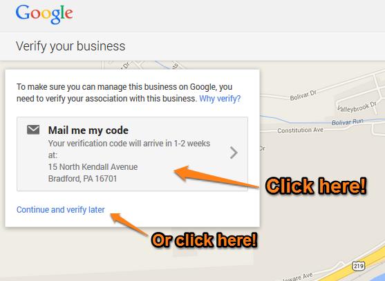 Google Plus Local Step 9