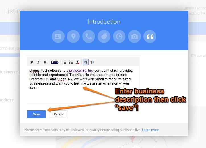Google Plus Local Step 12
