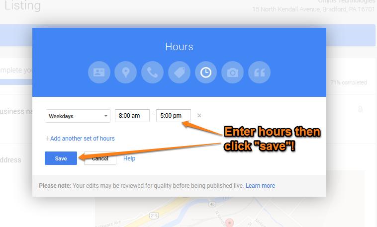 Google Plus Local Step 13
