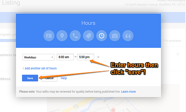 Google Plus Local Step 13