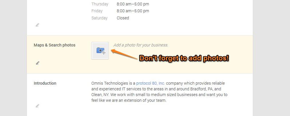 Google Plus Local Step 14