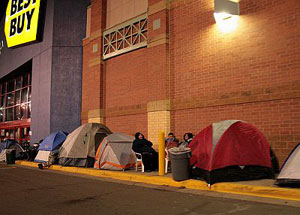 Camping on Black Friday