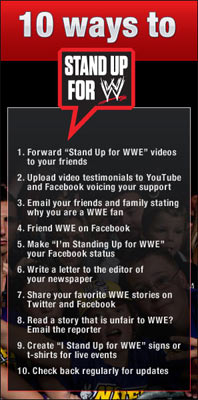Stand Up for WWE Social Campaign