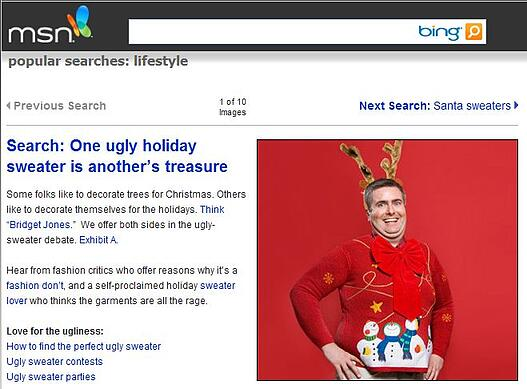 MSN Ugly Christmas Sweater Article