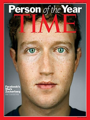 Mark Zuckerberg named Times 2010 person of the year.