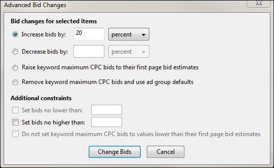 Adwords Advanced Bid Changes