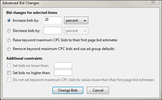 Adwords Advanced Bid Changes
