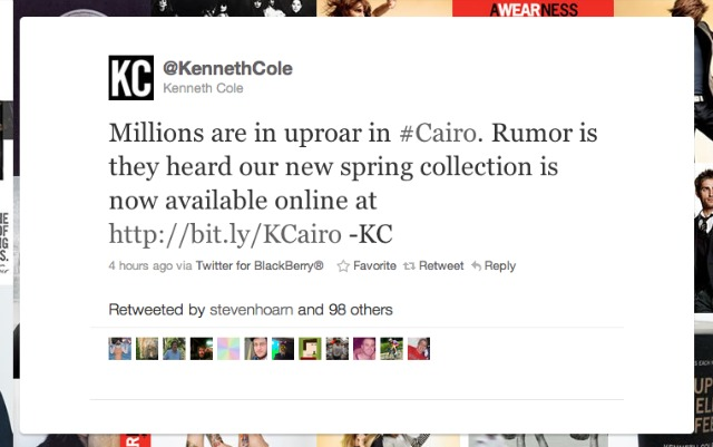 The Kenneth Cole Tweet Heard Round The World