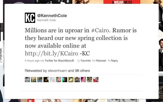 The Kenneth Cole Tweet Heard Round The World