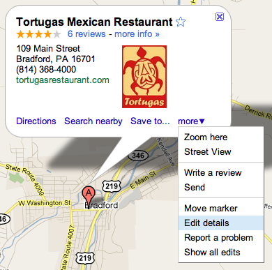 Google Maps Edit Details