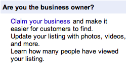 google maps claim your business