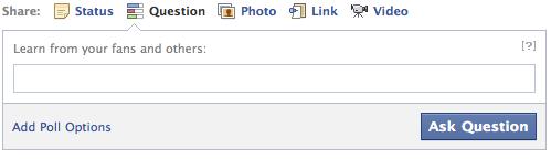 facebook questions tab