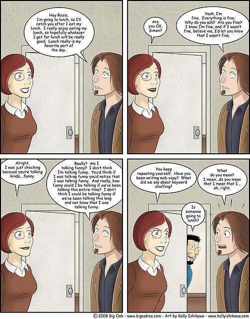 Keyword stuffing comic