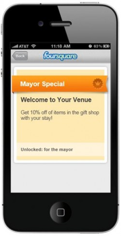 Foursquare Special Offer