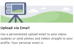 Facebook Upload via Email