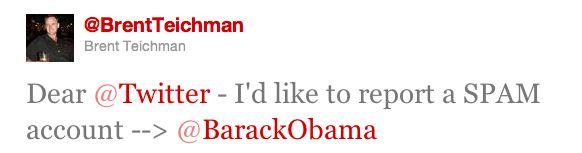 Obama Twitter Spam