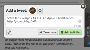 Tweeting with Buffer for Chrome