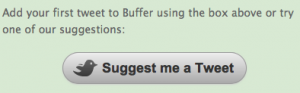 Buffer's suggest a tweet