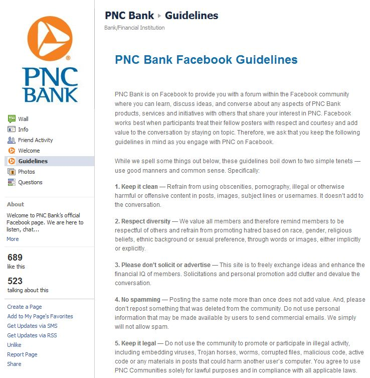 PNC Bank Launches a Facebook Page