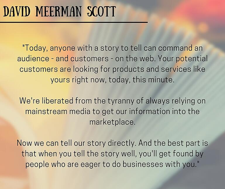 inbound marketing quotes david meerman scott