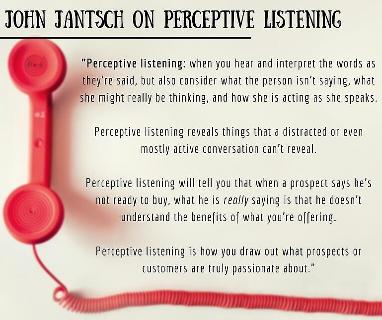 inbound marketing quotes john jantsch perceptive listening