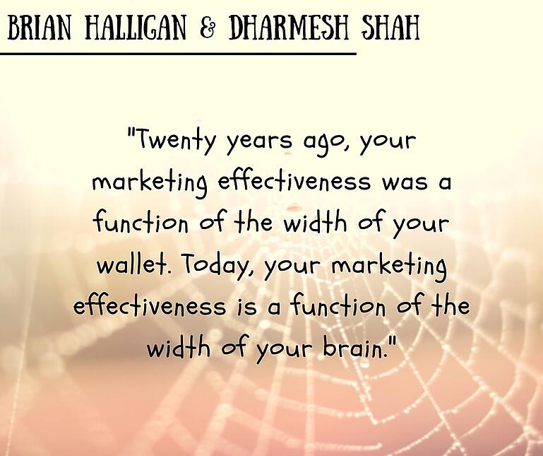 inbound marketing quotes brian halligan dharmesh shah