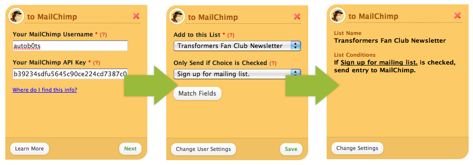 marketing automation example screenshot mailchimp