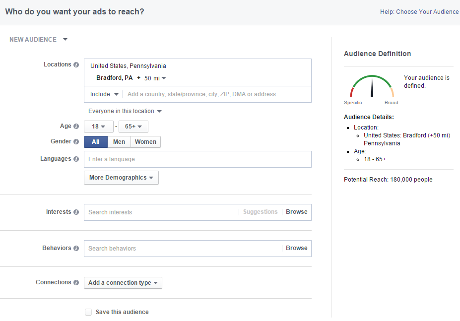 social media advertising facebook ads