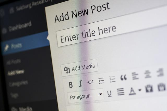 wordpress CMS content management system blog post