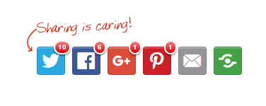 social media sharing buttons for your website