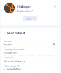 Company-Record-in-HubSpot-CRM
